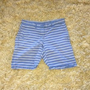 Khakis by Gap, blue and gray, striped shorts